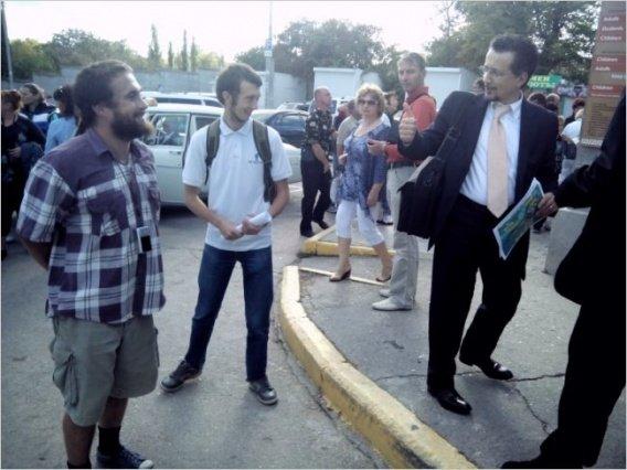 Анархисты устроили пикет против варварской застройки Херсонеса | Деградация Севастополя